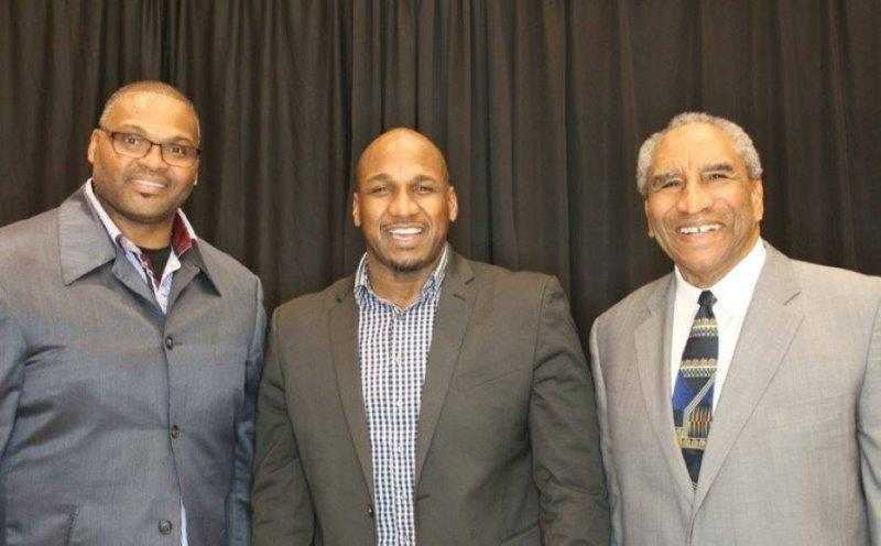 Kansas City Chiefs players at Restoration House KC Gala