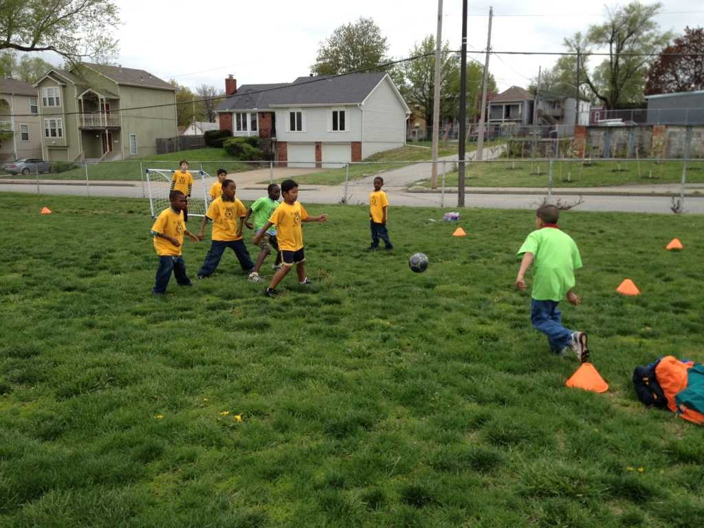 Children Playing Soccer BRKC People Teams