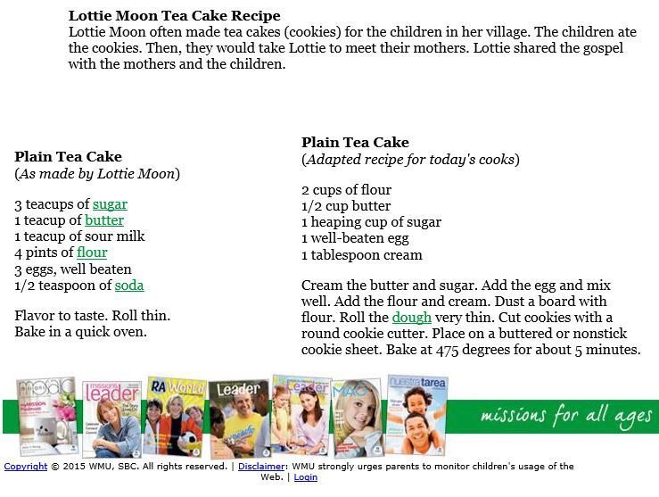 Lottie Moon Recipe