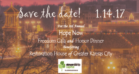 Restoration House Gala 2017 Save the Date