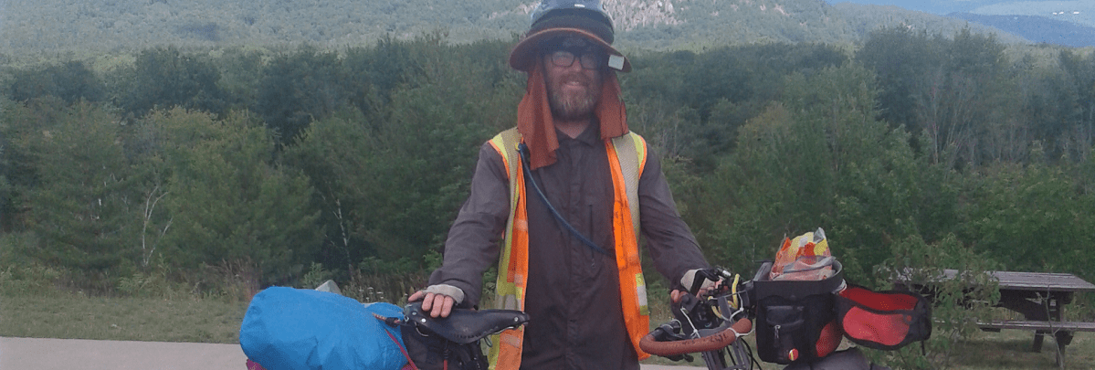 Ritchie Wolfe Rides Bicycle across America Raise Money Restoration House