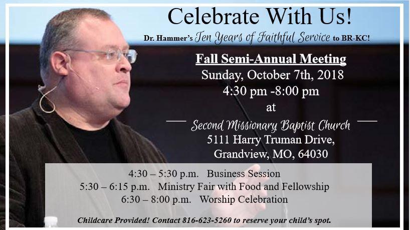 Dr. Rodney Hammer 10 Year Anniversary BRKC Fall Semi-Annual